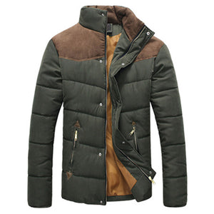 DIMUSI Winter Jacket Men Warm Casual Parkas Cotton Stand Collar Winter Coats Male