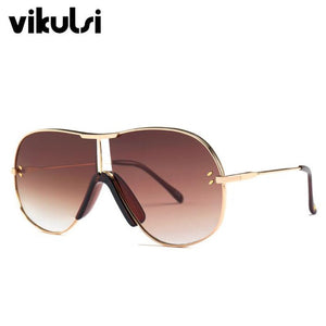 Fashion Blue Tea Aviation Sunglasses Women Men Driving UV400 Sun Glasses Clear Vintage