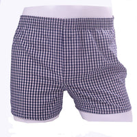 5pcs/lot 6XL plus size male underwear Plaid underpants man woven boxer men cotton mens boxers Breathable family panties shorts