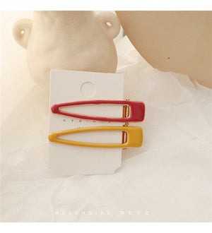 HZ 2019 Japan Colorful Hollow Hair Clip Drop Glaze Barrette Sweet Lovely