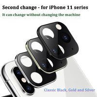 Luxury Camera Lens Case Seconds Change For iPhone 11 Pro Protector Metal Alumium Ring Cover Case For iPhone X XS MAX Camera Bag
