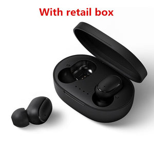 A6S Bluetooth 5.0 Headsets For Redmi Airdots Wireless Earbuds TWS Earphone Noise Cancelling Mic for Xiaomi iPhone Huawei Samsung
