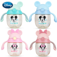 Disney baby cup Kid straw cup drinking milk PPSU baby learning cup with handle scale bottle bottle kettle
