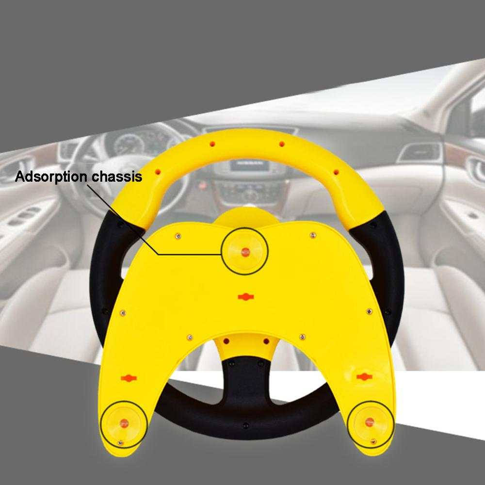 Cute Steering Wheel Toy with Light Driving Music Baby Electronic Kids Toy
