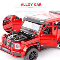 1:32 Diecast Metal Toy Car Model Vehicle SUV New G700 High Simulation Sound And Light Pull Back Car Collection Kids Toys Gifts