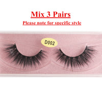 MAGEFY 3D Eyelashes Mink Lashes Handmade Makeup Full Strip Lashes Cruelty Free Lash L