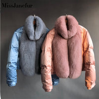 New brand winter true natural fox fur coat thick silver fox women's jacket fox fur coat collar