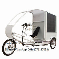 2020 New style advertisement trike elecric cart street side LED showing words electric cargo bike