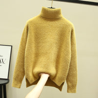2019 Autumn Winter Wear Women Sweaters Christmas Sweater Top Knitted Pullovers Turtleneck Casual Korean Style Long Sleeve Tops