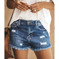2020 Women's Fashion tassel Ripped Shorts Summer High Waist Denim Shorts Jeans Women Short Casual Push Up Skinny Slim Hot Shorts