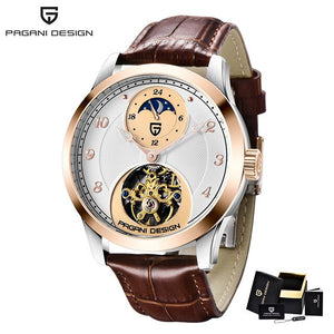 PAGANI Design Tourbillon Men Watches Top Brand Luxury Automatic Moon Phase Mechanical