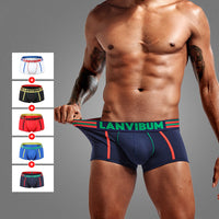 Men Breathable Boxers Soft Cotton Boxers Underwear Men Underpant U Convex Pouch  Men's Underwear Shorts Slips Cueca