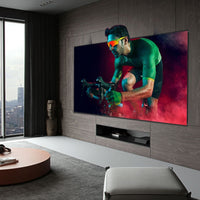 3D Metal ALR Projector Screen 1cm Ultra Narrow Border Slim Frame Projection 4K/8K Supported Metallic Flexible