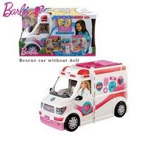 original Barbie Doll Toy Clinic Car Ambulance Model Car Toy With Doctor Accessories FRM19 toys girl birthday Christmas gift