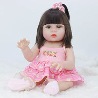 53cm Dolls can pee baby bebe doll reborn Simulation Baby Dolls Soft Silicone Reborn Toddler Baby Toys For Girls Children