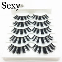 5 pairs 3d mink hair false eyelashes natural Long Eye Lashes Wispy Makeup Extension Tools