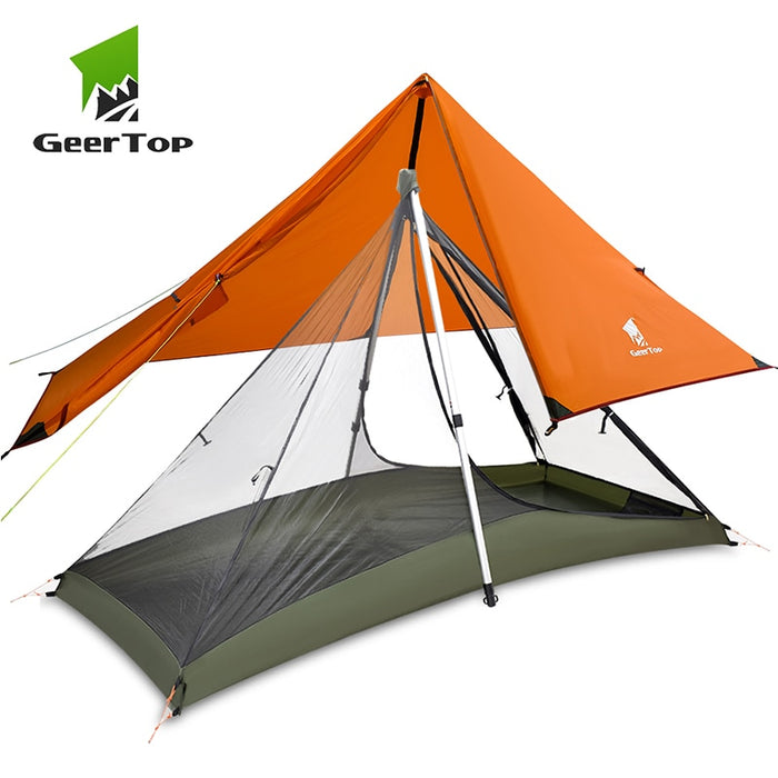 GeerTop Ultralight Camping Tent 1 Person 3 Season Portable Compact Backpacking No Trekking