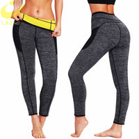 LAZAWG Women Waist Trainer Hot Sauna Sweat Pant Neoprene Sweat Slimming Body Shaper Gym Workout Trousers Tummy Control Panties