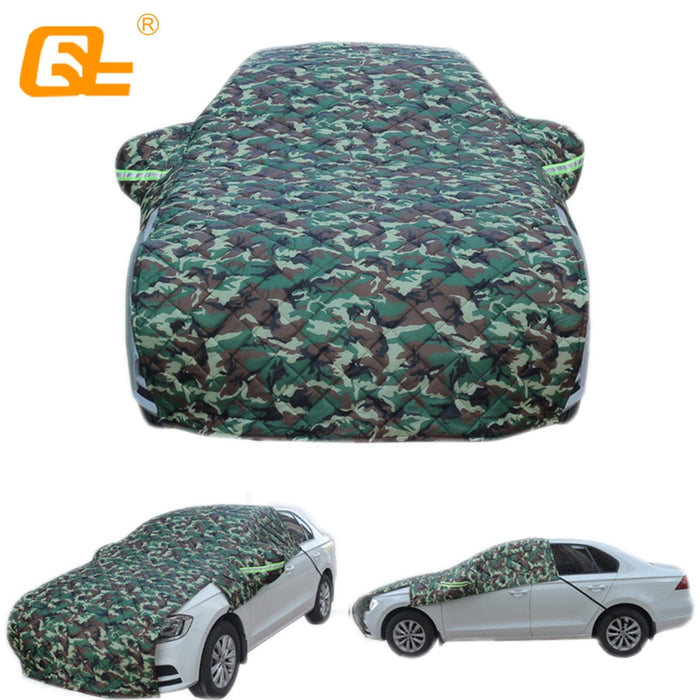 Universal half car covers Winter plus cotton thickened half Waterproof Rain Snow Car Umbrella