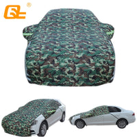 Universal half car covers Winter plus cotton thickened half Waterproof Rain Snow Car Umbrella camouflage for Hatchback sedan SUV
