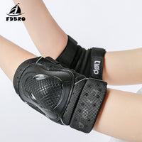 FDBRO Adult Child Roller Skates Skateboarding Skiing Protection 6 In 1 SET Wrist Elbow&Knee Pads Set Extreme Sports Safety Guard