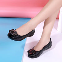 Large Size Women Boat Shoes Flats Slip-on Low-cut Shoes Woman Cow Leather Fashion Elegant Casual Loafers Ladies Luxury Quality