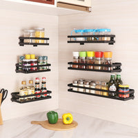 Stainless Steel Kitchen Wall Shelf Storage Organizer Shelf Spice Rack Punch Free Storage
