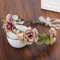 Haimeikang Fashion Flower Headband Women For Wedding  Head Band Hairband Wedding Party Festival Decor Princess Floral Wreath