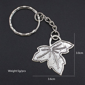 Hapiship 2018 Women/Men's Fashion Handmade Vintage Silver Rose Flower Leaves Key Chains Key Rings Alloy Charms Gifts YSDY158