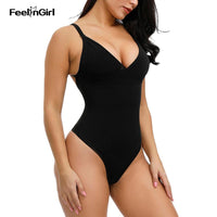 FeelinGirl Body Shaper Wear Women Slimming Underwear Sexy Pad Thong Bodysuit Postpartum Recovery Breathable Seamless Shapewear