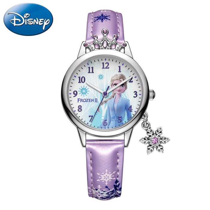 Frozen Ⅱ Disney Princess Series Elsa Luxury Bling Rhinestone Crown Snowflake Pendant