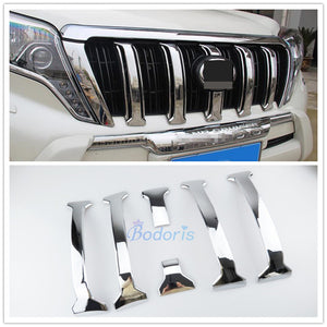 Accessories For Toyota Land Cruiser 150 Prado LC150 FJ150 2014-2017 Front Grille Trims Bumper Garnish Chrome Car Styling