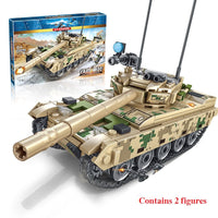 432Pcs Bricks Toy Building Blocks Heavy Armor Main BattleTank Model  Blocks Military Army Soldier