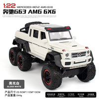 1:22 New BENZ G63 6X6 Off Road Car Model Vehicles Double Pull Back Kids Toys For Children