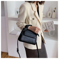 Alligator Vintage Stone Pattern Female 2019 New Luxury Famous Brand Simple Shoulder Messenger