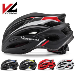 VICTGOAL Bike Helmet for Men Women LED Light Ultralight Bicycle Helmets Visor CPSC Certificate Mountain Road Cycling MTB Helmet