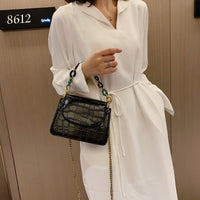 2020 Fashion Tote Quality Leather Women's Designer Handbag Crocodile Pattern Leather Chain Shoulder Messenger Bag Bolsos Mujer