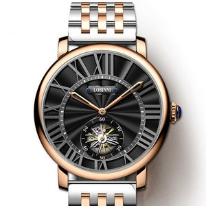 wrist watch for men,mens automatic watches LOBINNI luxury brand man dress mechanical