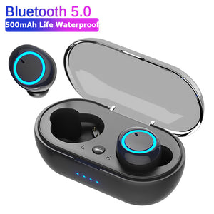 TWS Fingerprint Touch Bluetooth Earphones HD Stereo Wireless Headphones Noise Cancelling Gaming Headset for Redmi Airdots D10