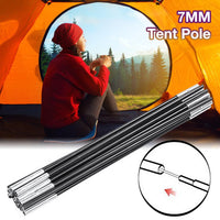 7MM Tent Pole Fiberglass Camping Tent Rod Spare Replacemet Tent Supporting Rods Awning Frames Accessories For Outdoor Camping