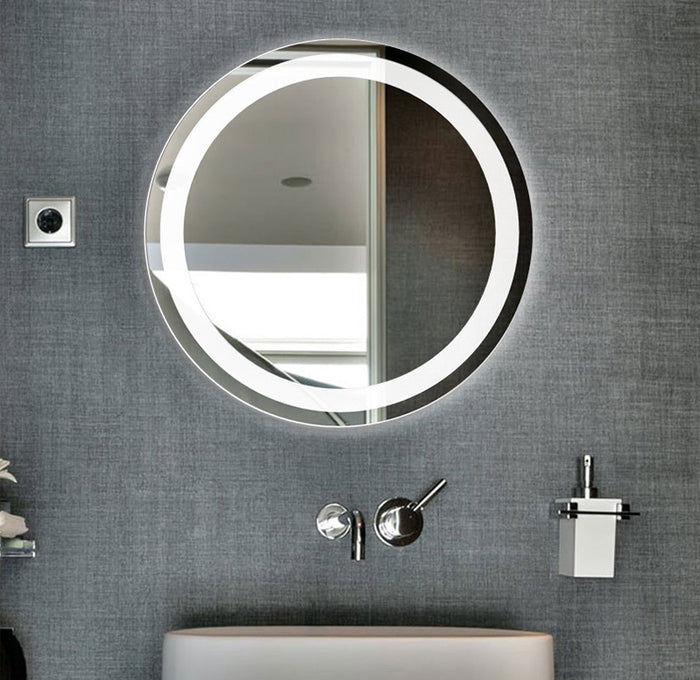 Smart Mirror Touch Screen Led Luminescent Lamp Antifogging Bathroom Mirror Washroom Mirror Wall Hangs Round Mirror Wall