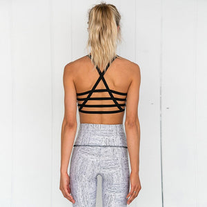 Women Yoga Sets Tracksuit Sexy Ensemble Gym Wear Running Clothing Bohemian Crop Tank Top Leggings Fitness Sportswear Sport Suits
