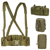 Tactical Molle Belt Army Military Special 1000D Nylon belt Men's Convenient Combat Girdle EAS H-shaped Adjustable Soft Padded
