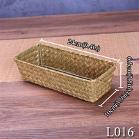 Handmade Straw Weaving Storage Of Things Fruit Dish Basket For Sundries Cosmetic Snacks