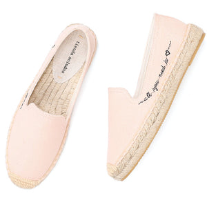 tienda soludos Espadrilles Flats Shoes Woman  Lightweight Breathable Flat Ladies Fisherman Leisure Soft Comfortable Lazy New