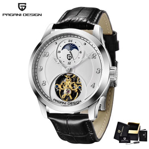 New Mens Watches Top Brand Luxury Watch Mechanical Automatic Watch Men Tourbillon Moon