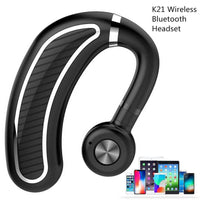 K21 Business Bluetooth Headset Wireless Hanging Ear Stereo Waterproof Long Standby Earhook Bluetooth Earphones