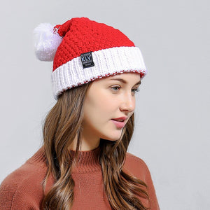 YELITE Christmas Beanie Winter Hats For Women Men Santa Claus Knit Hat Female Male Skullies Beanies Warm Autumn Knitted Bonnet