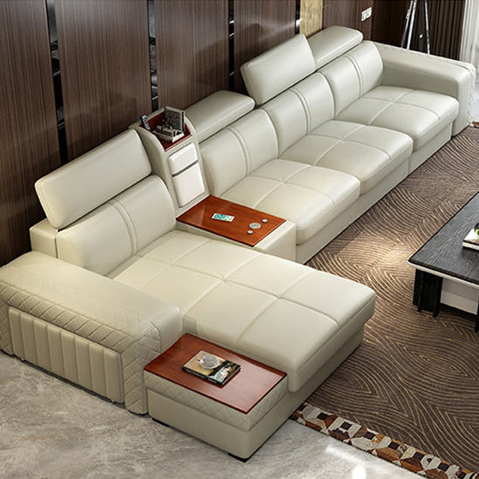 Living Room Sofa real genuine leather sofas salon couch puff asiento muebles de sala canape