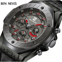 Ben Nevis Men Watches Top Brand Luxury Quartz Leather Watch Men Military Sports Date Analog Watch For Men Relogio Masculino